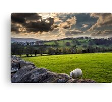 Hathersage near the church Canvas Print