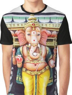 Ganesha Hindu God Statue Graphic T-Shirt