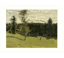 Train in the Countryside by Claude Monet Art Print