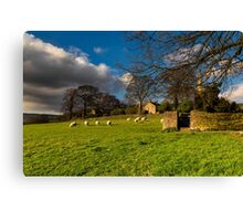 Hathersage near the church2 Canvas Print