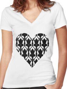 Sherlock Wallpaper Love Women's Fitted V-Neck T-Shirt