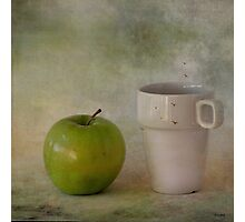 With green apple Photographic Print