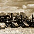 Vintage Steam Road Rollers   by Ian Jeffrey