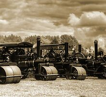 Vintage Steam Road Rollers   by Ian Jeffrey