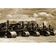Vintage Steam Road Rollers   Photographic Print