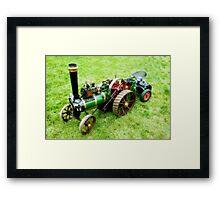 Miniature Vintage Traction Engine  Framed Print