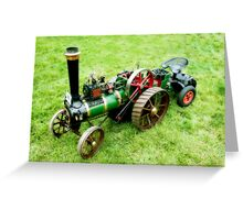 Miniature Vintage Traction Engine  Greeting Card