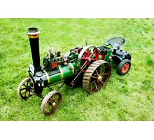Miniature Vintage Traction Engine  Photographic Print