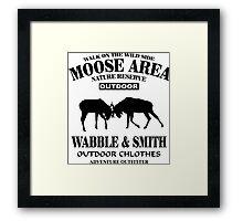 Moose Fight Framed Print