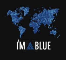 I'm blue illuminati tshirt secret world black by PickleWarrior