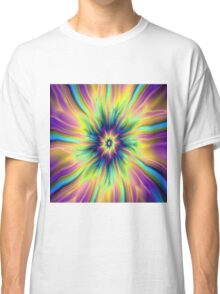 Combustion in Yellow Turquoise and Blue Classic T-Shirt