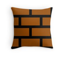 Mario Brick Block Throw Pillow