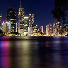Brisbane from Kangaroo Point by Steve Bass