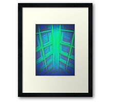 WINDOWS IN BLUE GREEN AQUAMARINE Framed Print