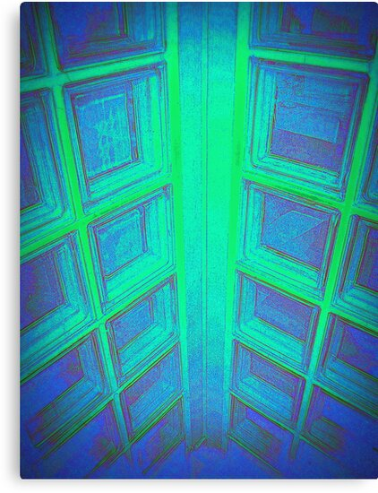 WINDOWS IN BLUE GREEN AQUAMARINE by Colleen2012