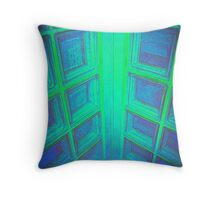 WINDOWS IN BLUE GREEN AQUAMARINE Throw Pillow