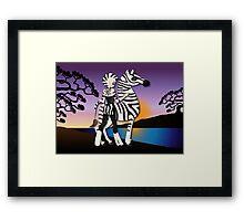 Twisted - Wild Tales: Etana and the Zebra Framed Print