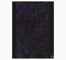 USGS Topo Map Washington State WA Bertrand Creek 240025 1952 24000 Inverted One Piece - Short Sleeve