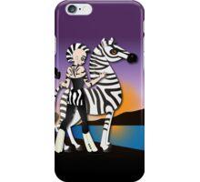Twisted - Wild Tales: Etana and the Zebra iPhone Case/Skin