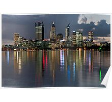 Perth City Skyline 2012 Poster