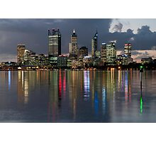 Perth City Skyline 2012 Photographic Print