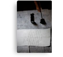 Parchment and Quill Canvas Print