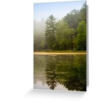 Foggy Morning Landscape Greeting Card