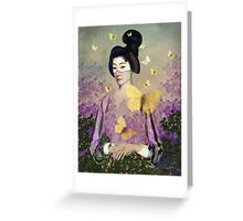 Madame Butterfly Greeting Card