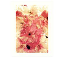 Vintage cherry blossom Art Print
