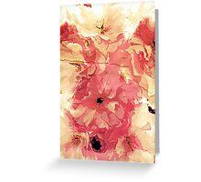 Vintage cherry blossom Greeting Card
