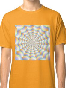 Spiral Tunnel in Blue Orange and Green Classic T-Shirt