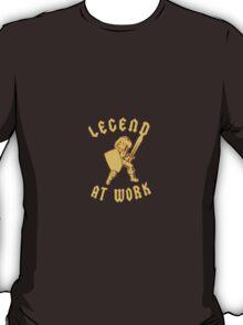 Zelda Legend At Work Gold and Black Design T-Shirt