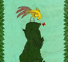 Mythical bird on Mountain top by SusanSanford