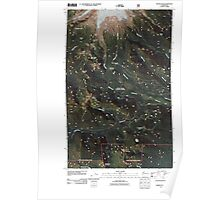 USGS Topo Map Washington State WA Baker Pass 20110425 TM Poster