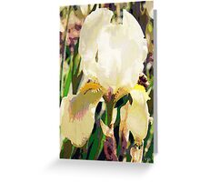 Vintage white iris Greeting Card