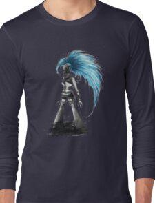 Rainbow Punk: Cybernetic Blue Long Sleeve T-Shirt