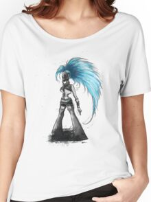 Rainbow Punk: Cybernetic Blue Women's Relaxed Fit T-Shirt