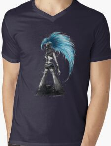Rainbow Punk: Cybernetic Blue Mens V-Neck T-Shirt