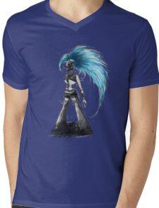 Rainbow Punk: Cybernetic Blue Mens V-Neck T-Shirt