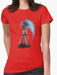 Rainbow Punk: Cybernetic Blue Womens Fitted T-Shirt