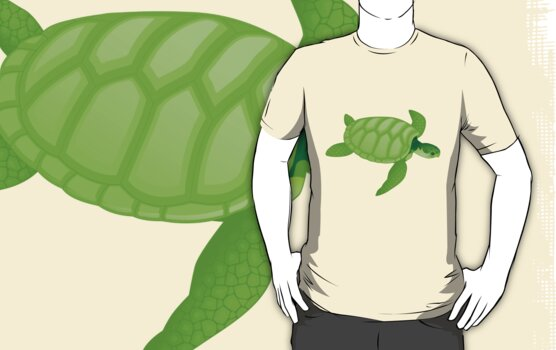 Green turtles are endangered by nadil