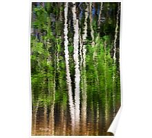 Abstract Tree Reflection Poster