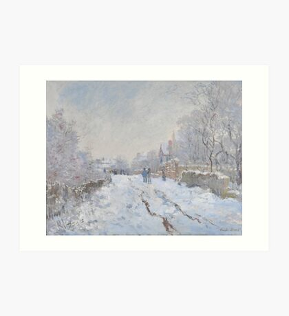 Snow Scene at Argenteuil by Claude Monet Art Print