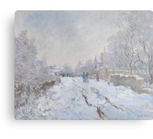 Snow Scene at Argenteuil by Claude Monet Metal Print