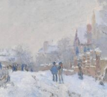 Snow Scene at Argenteuil by Claude Monet Sticker