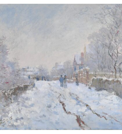 Snow Scene at Argenteuil by Claude Monet Sticker