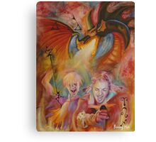 The element of fire Canvas Print