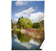 Spring Reflection Landscape Poster