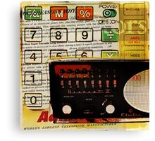 funky geek nerd shortwave radio retro calculator  Canvas Print
