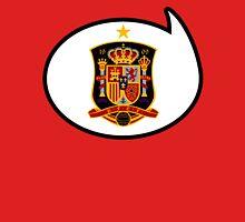 Spain Soccer / Football Fan Shirt / Sticker Womens Fitted T-Shirt